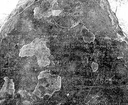 Fig. 8 stèle du Vat Ban Don Sing, Luang Prabang, 1555 (partie supérieure)